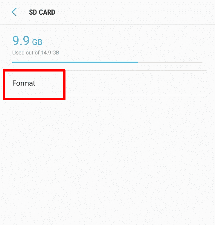 How to Use an SD Card on Android - Format SD card