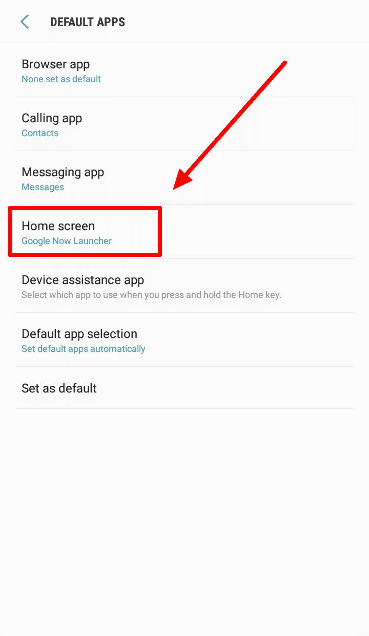 How to Change Android Launcher on Your Devices - Change Default Launcher Step 5
