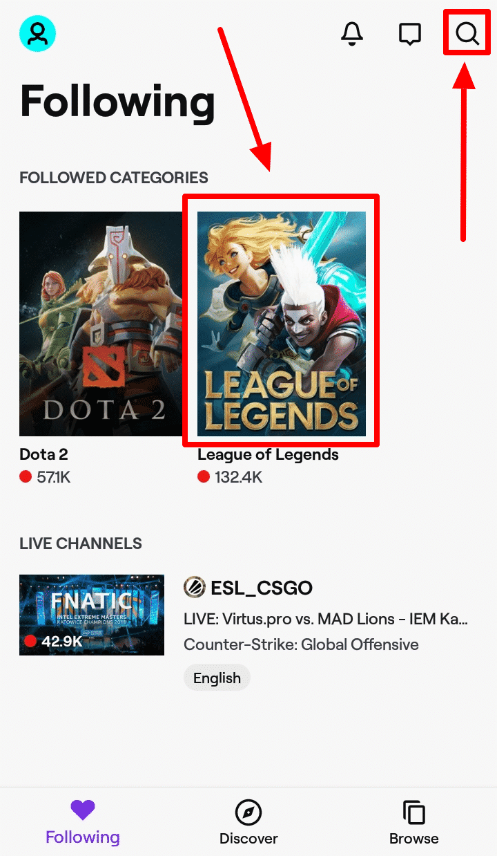 How to Watch League of Legends on Android - Watch Using Twitch - Step 5