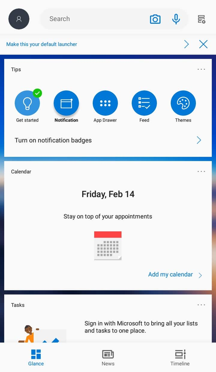 Best Microsoft Windows Launcher for Android - Microsoft Launcher Feed