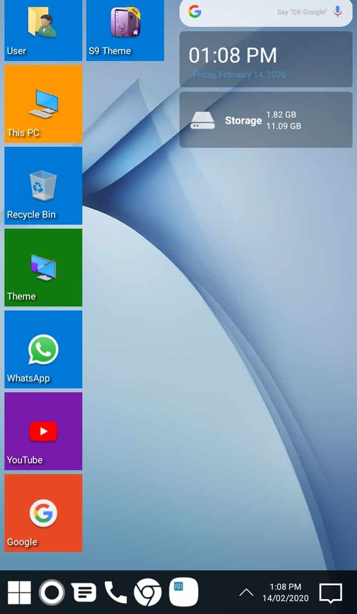 Best Microsoft Windows Launcher for Android - Win 10 Launcher Interface