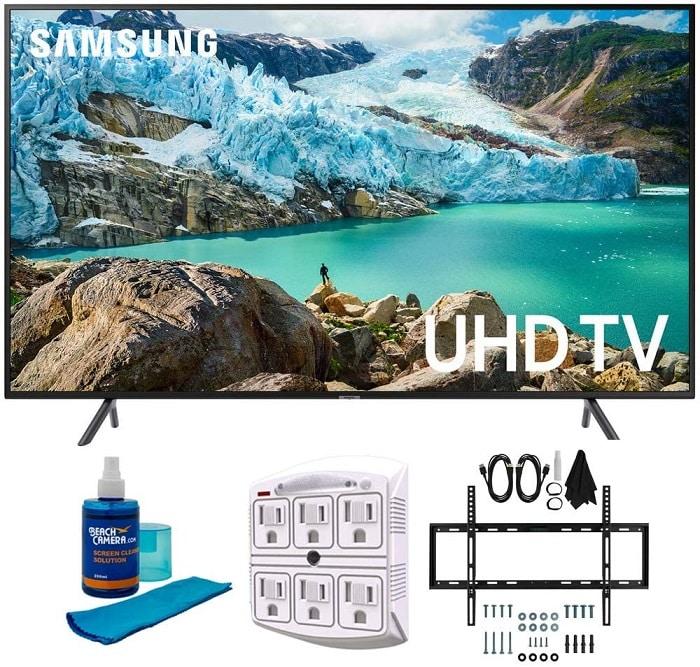 Best Samsung Smart TV: Samsung RU7100 LED Smart TV with Wall Mount Bundle
