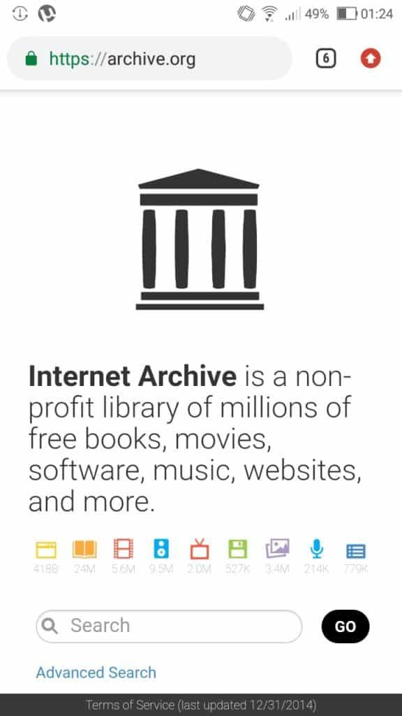 Internet Archives-Download Books on Torrent