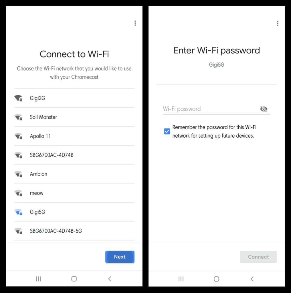 Set Up Chromecast - Connect to Wifi