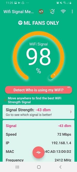 wifi signal sttrength app: Wifi Signal Meter Network Monitor app