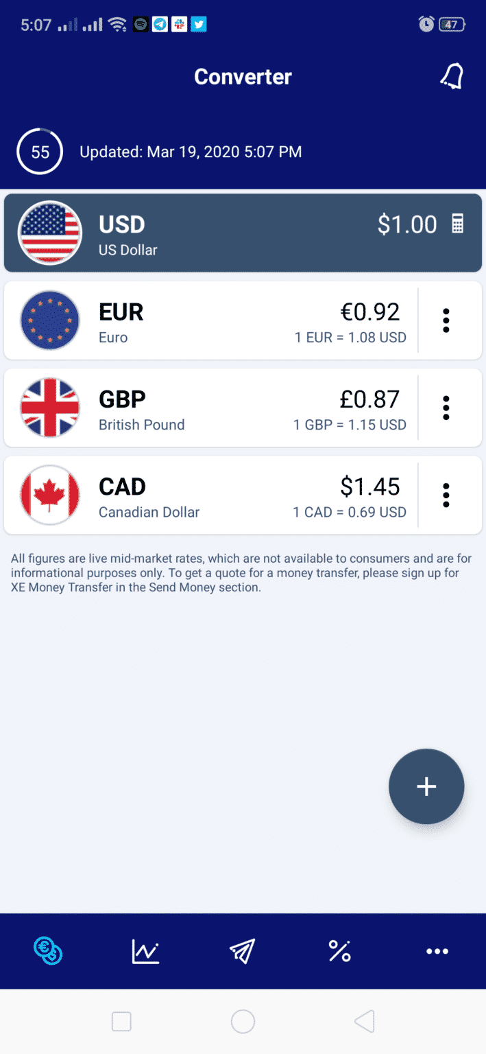 top currency converter appsXE Currency Converter App is stylish and can handle exchange rates and money transfer anywhere in the world.