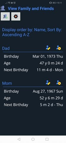Age Calculator Apps:Birthday and age of family and friends