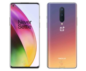 OnePlus 8 in a new 'Interstellar Glow' color option