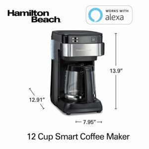 smart appliances for home Hamilton Beach Coffee Maker Dimensions