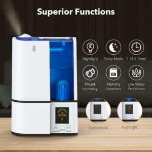 smart appliances for home TaoTronics Humidifier functions