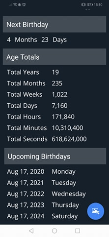 Age Calculator Apps:More info about your birthday