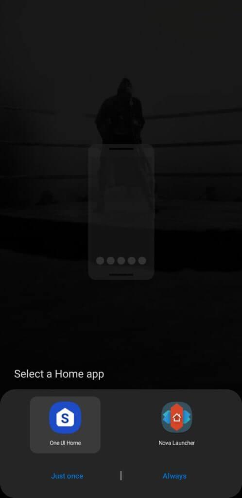 Android launcher default prompt