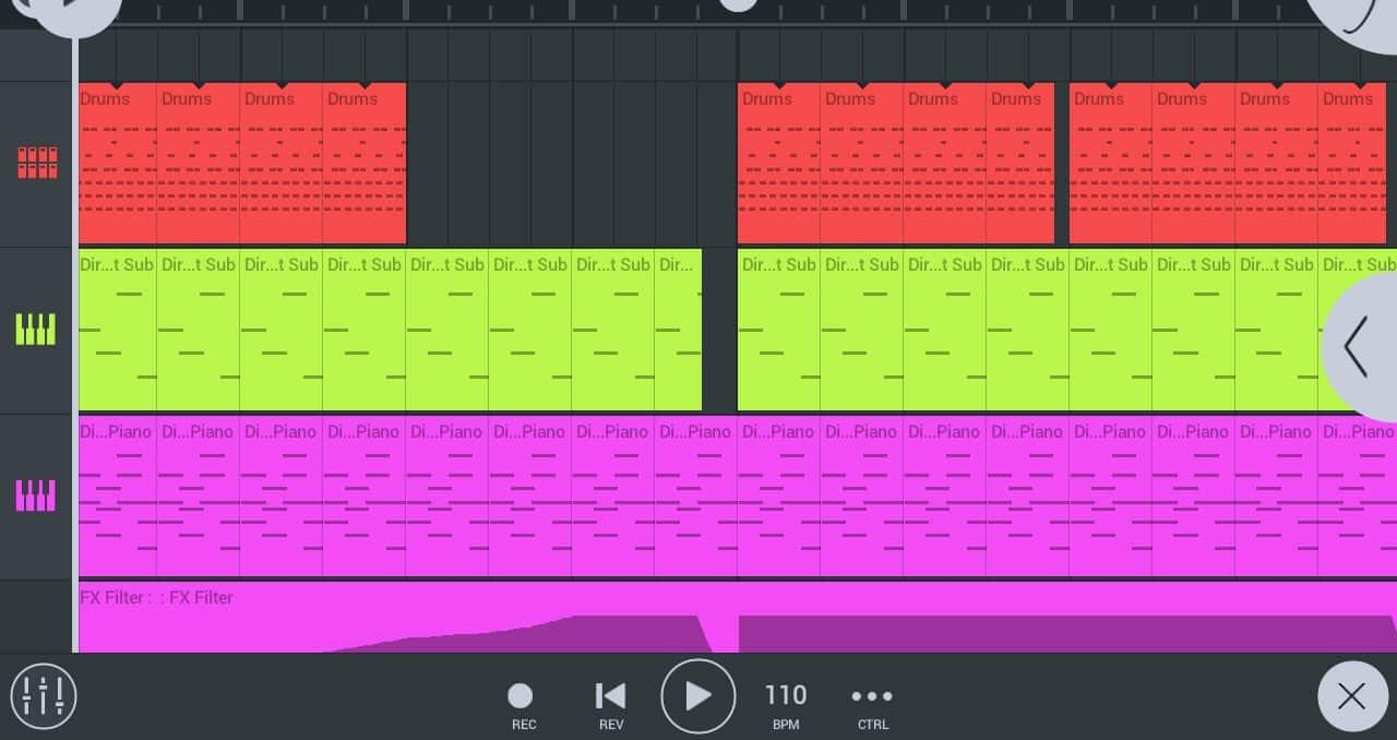 FL Studio User Interface mixing tracks
