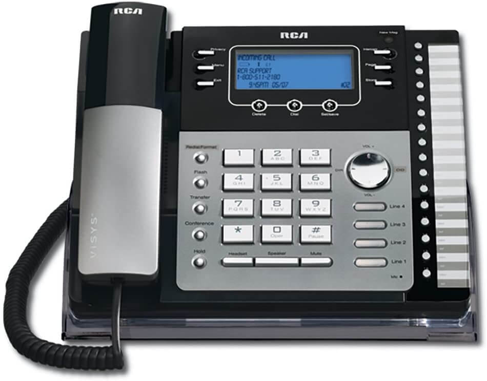 The RCA ViSys 25424RE1 multi line phone system for small business