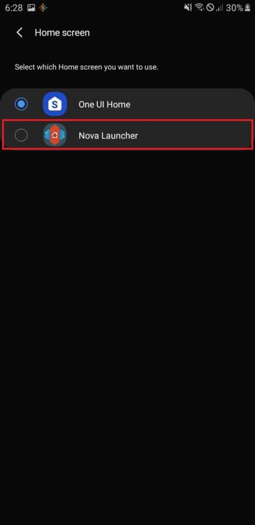 Android Launcher Setup - Choose Nova Launcher
