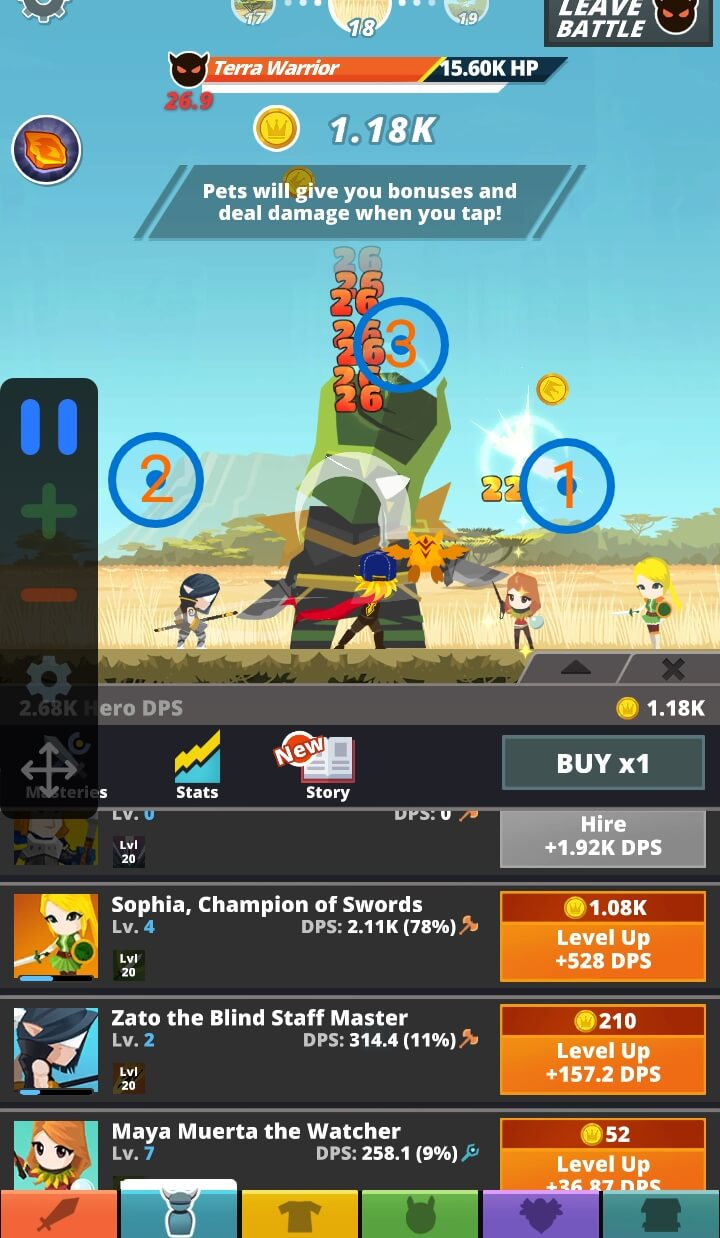 Using Auto Clicker for Android on Tap Titans