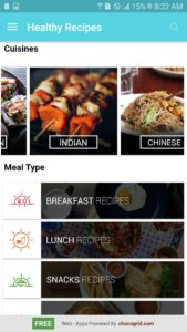 healthy recipes with categories, one of the best cooking apps