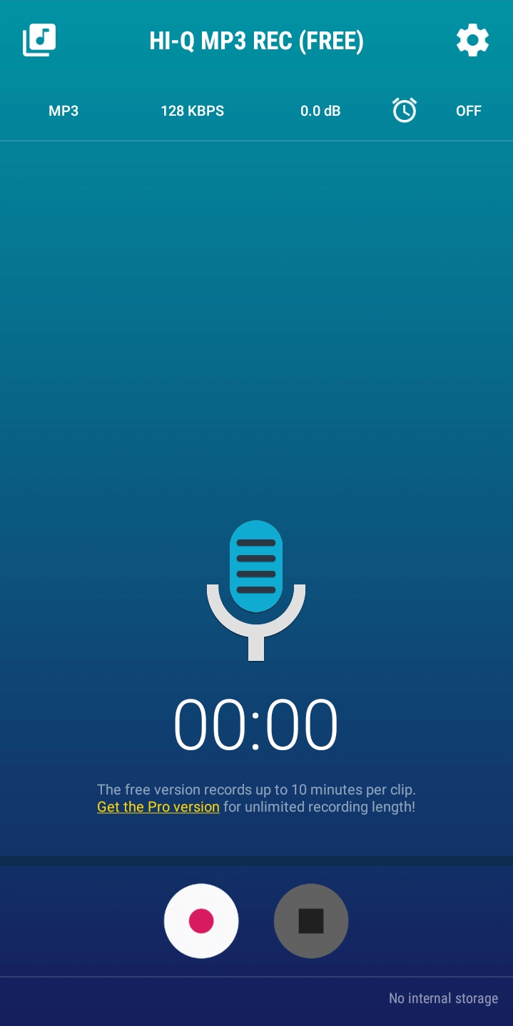 Recording audio with HI-Q MP3 REC