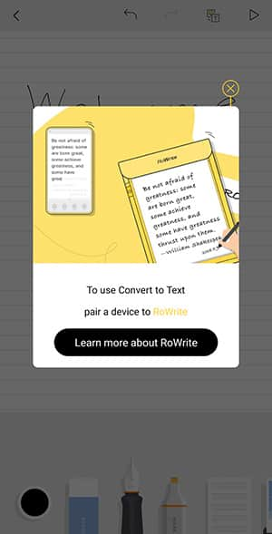 Handwriting to Text Apps - RoWrite Convert to Text