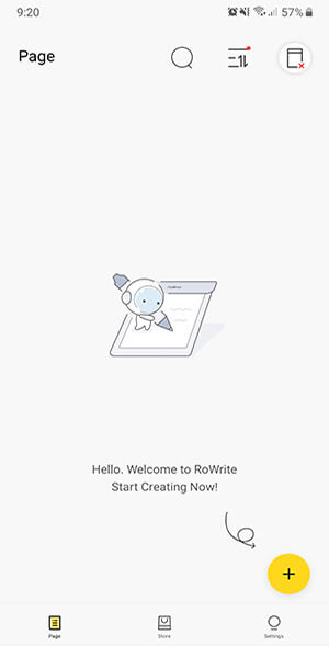 Handwriting to Text Apps - RoWrite Start Page