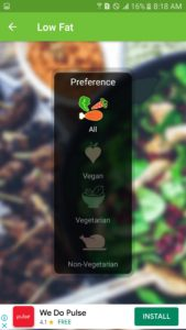 meal preference of one of the best cookbook apps