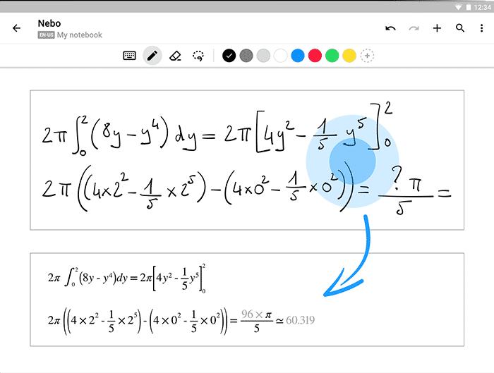 MyScript Nebo - Convert Written Equations to Text