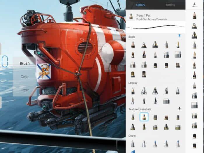 Procreate Andoid - Autodesk SketchBook - Brush Library
