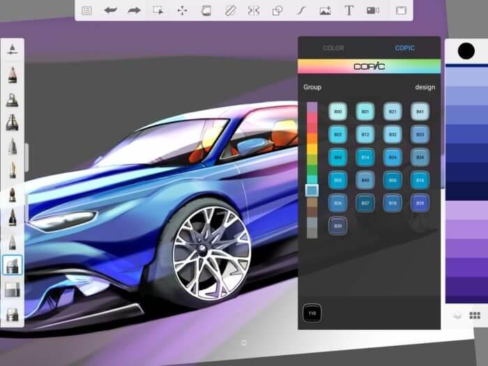 Procreate Andoid - Autodesk SketchBook - Palette