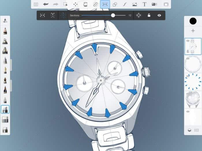 Procreate Andoid - Autodesk SketchBook - Sample