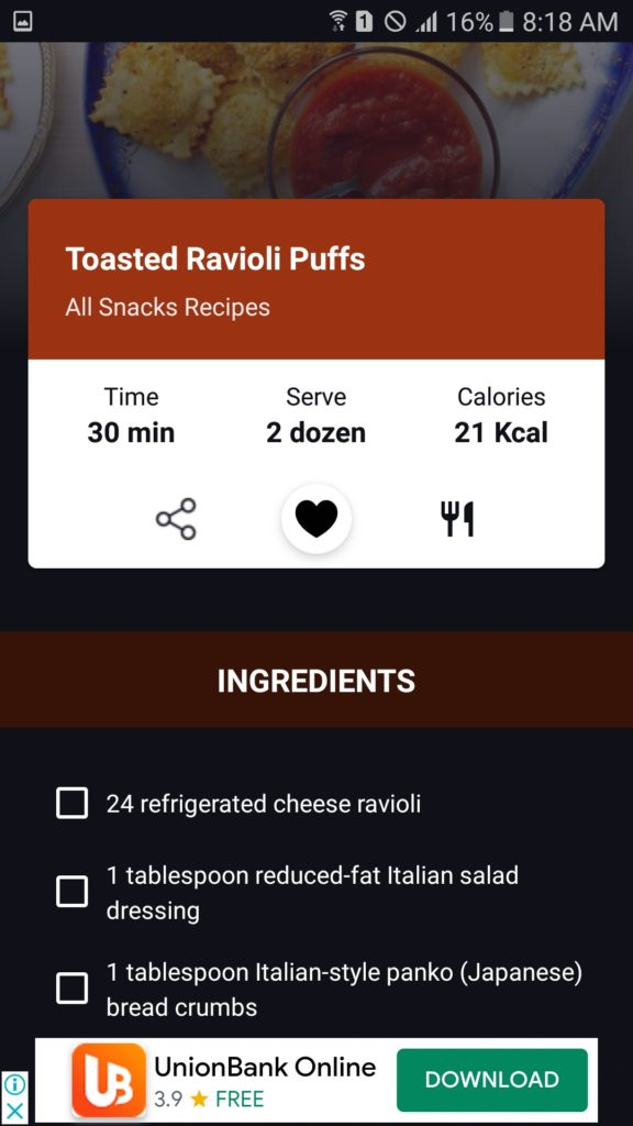 meal categories by one of the best cookbook apps on our list