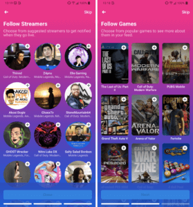 How Facebook's Gaming app looks like (Photo credits to owner)