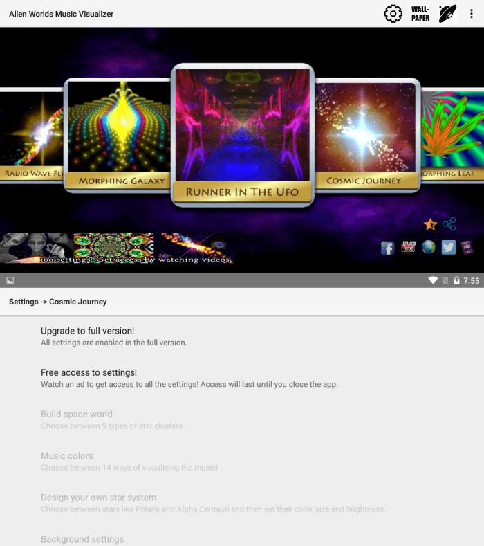 Alien Worlds - Music Visualization Apps