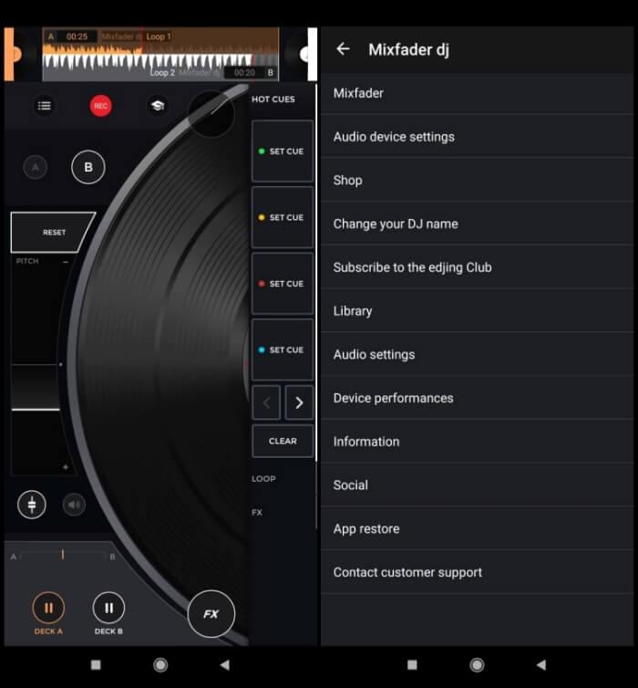 Best DJ Apps for Android - Mixfader DJ