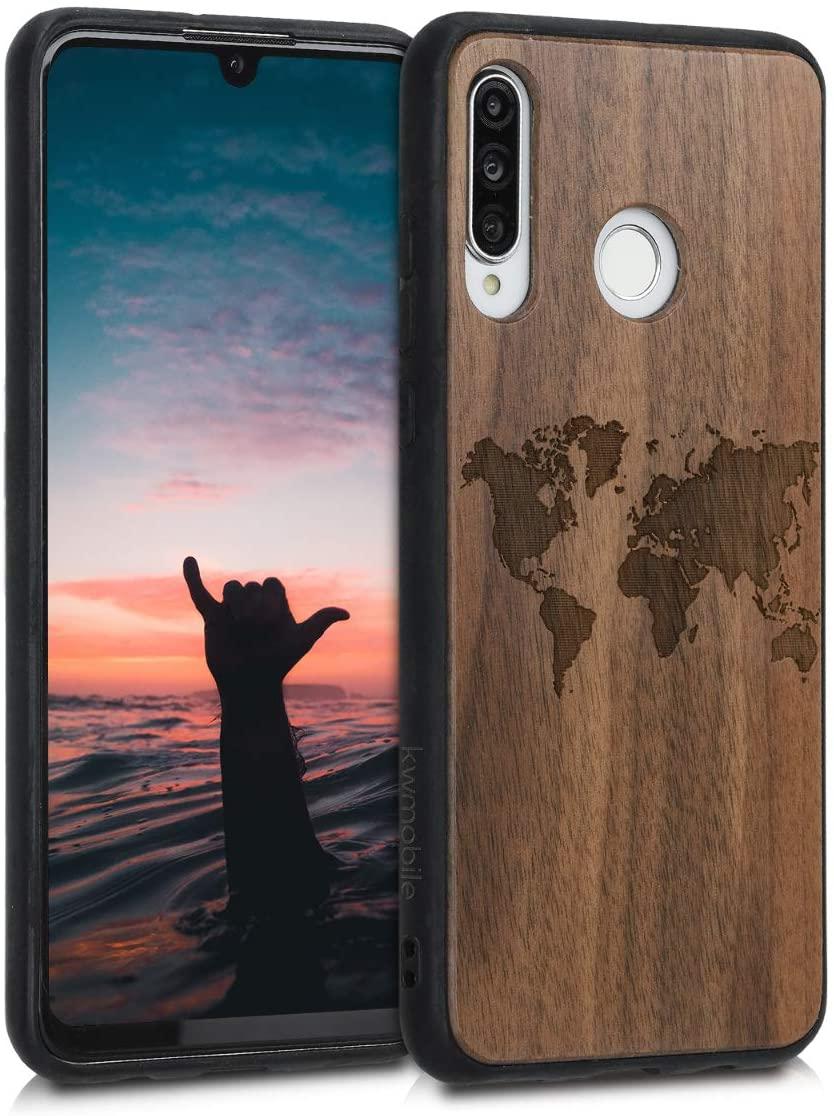 best-huawei-p30-lite-cases-kwmobile-wood