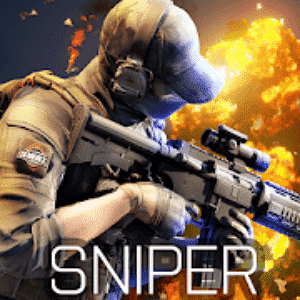 Blazing Sniper Logo - Sniper Games for Android