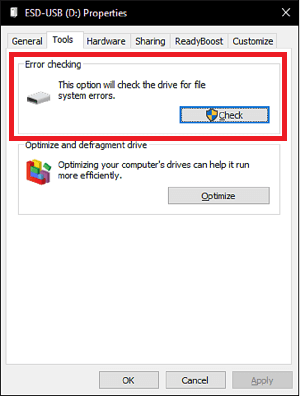 Error Checking Tool - Recover Corrupted SD Card