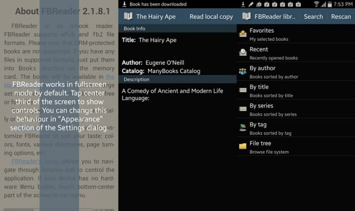 FBReader - Best eBook Reader Apps