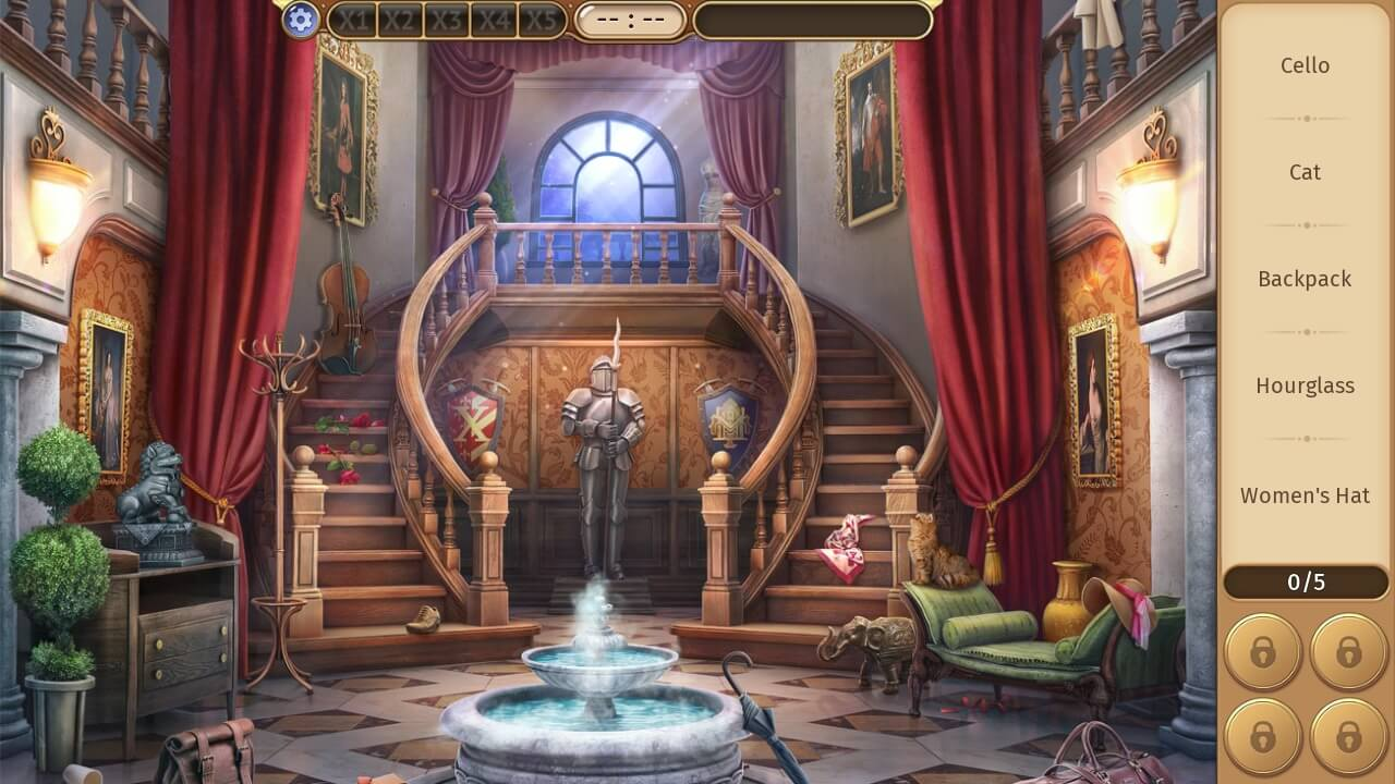 Hidden Object Games for Android - Mystery Manor Scene