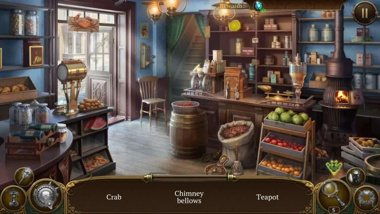 Hidden Object Games for Android - Paranormal Society Scene
