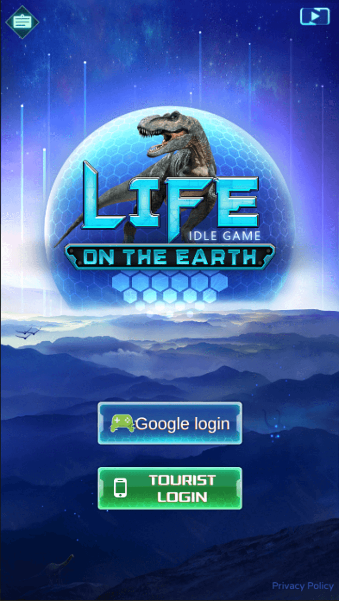 Life on Earth Login Page - Best Idle Games