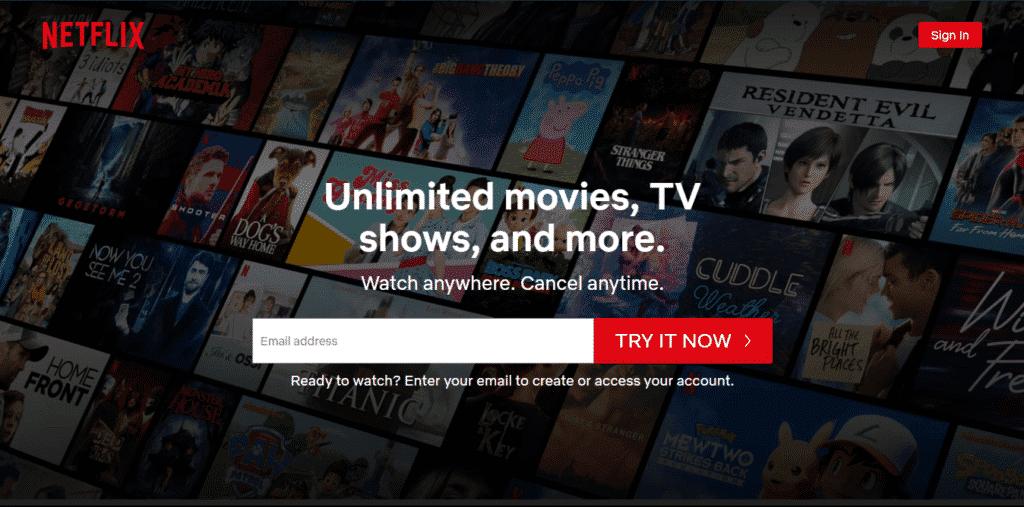 Best Samsung Smart TV Apps - Netflix Homepage