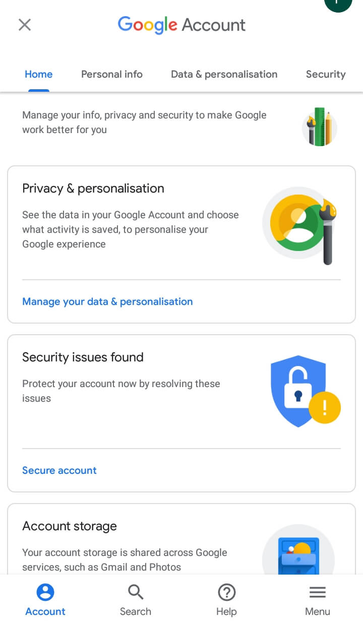 Ways To Go To My Phone Settings on Android - Privacy Settings