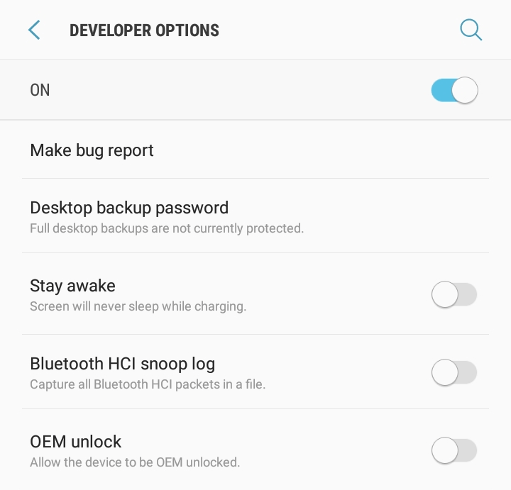 Ways To Go To My Phone Settings on Android - Developer Options