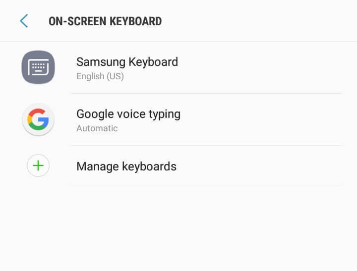 Ways To Go To My Phone Settings on Android - Keyboard Settings