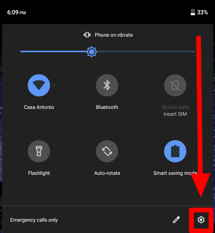 Ways To Go To My Phone Settings on Android - Notification bar
