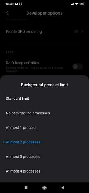 Redmi Note 7 Problems - Restrict Background App Processes Step 3