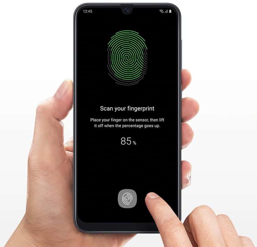 Slow fingerprint scanner of Samsung Galaxy A50