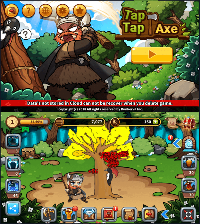 Tap Tap Axe Gameplay - Best Idle Games
