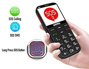 UNIWA Senior Cell Phone - Best Cell Phone for Seniors with Dementia