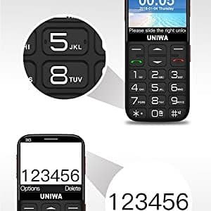 UNIWA Senior Cell Phone - Best Cell Phone for Senior with Dementia
